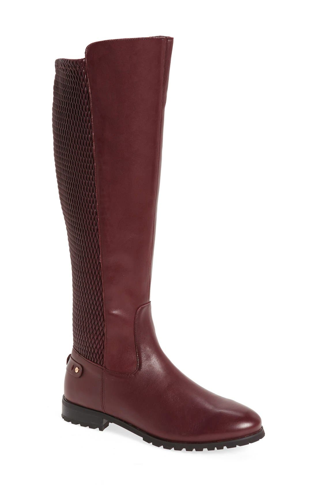 Sudini Fabiana Tall Boot- Burgundy