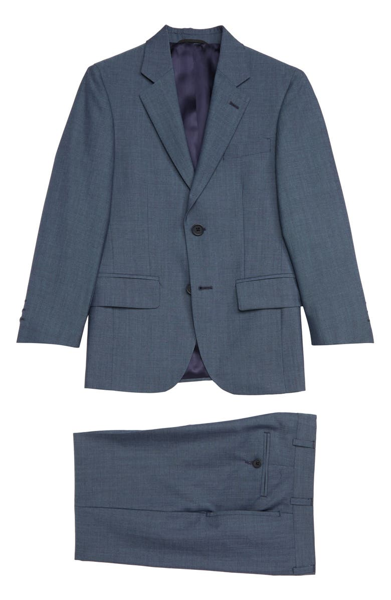 JB JR Two-Piece Mohair Wool Suit, Main, color, BLUE