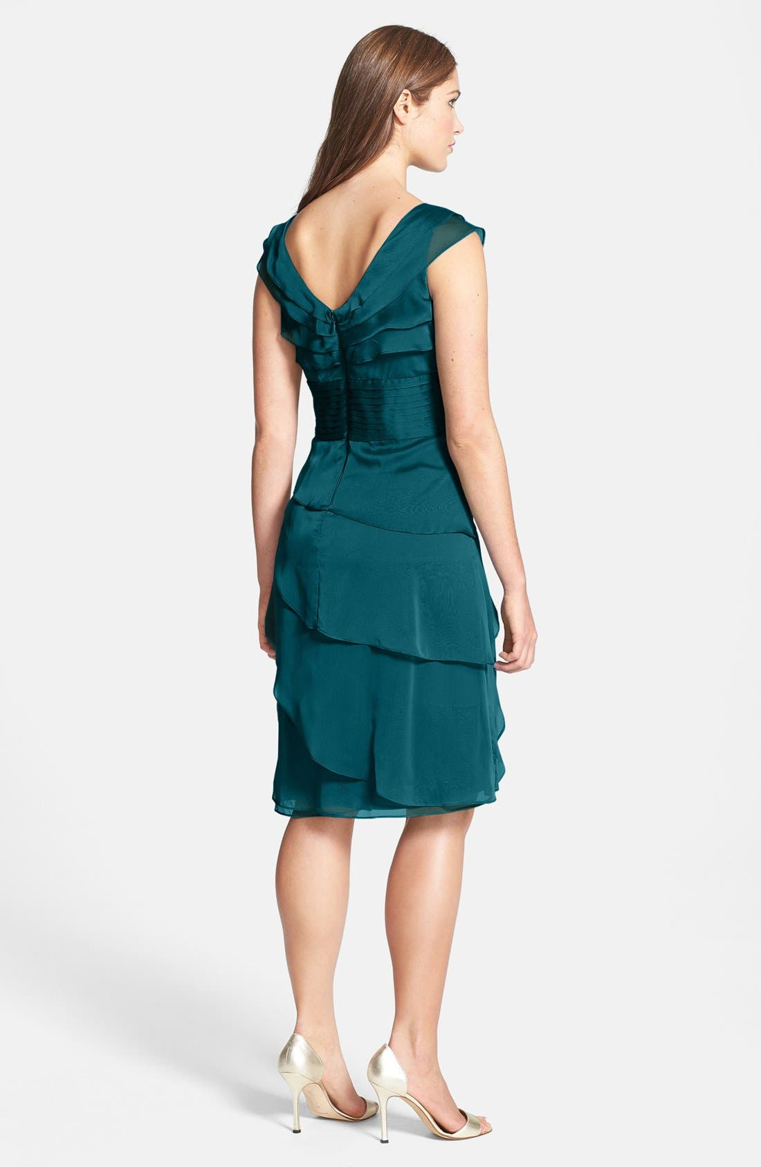 ,                             Tiered Chiffon Dress,                             Alternate thumbnail 28, color,                             441