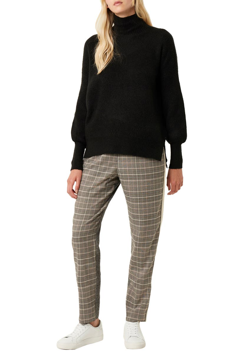 FRENCH CONNECTION Orla Ribbed Sweater, Main, color, 001