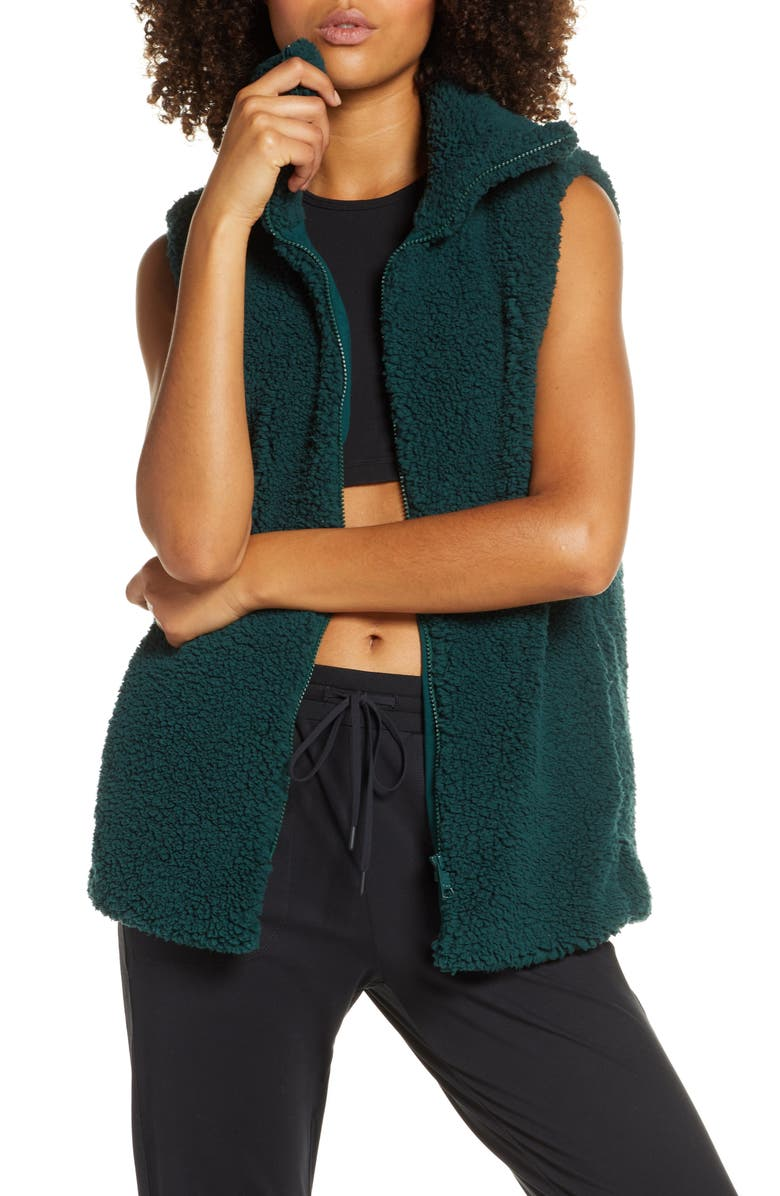 Cozy High Pile Fleece Vest by Zella