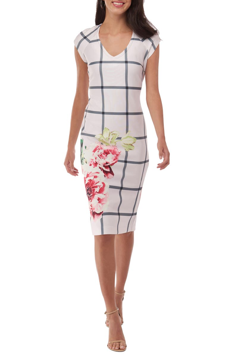 ECI Scuba Sheath Dress, Main, color, 650