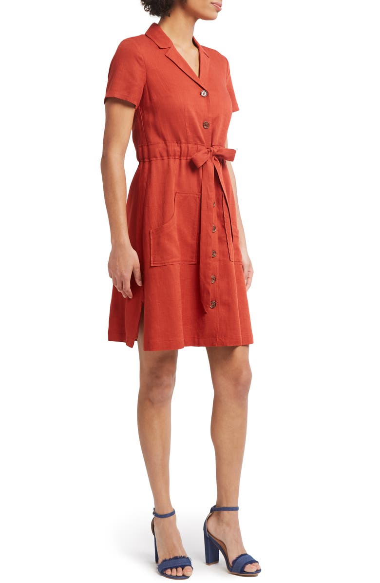 MODCLOTH Notch Collar Shirtdress, Main, color, 200