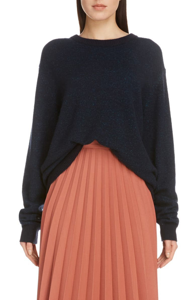 ACNE STUDIOS Kassio Cashmere Sweater, Main, color, NAVY/ BLUE