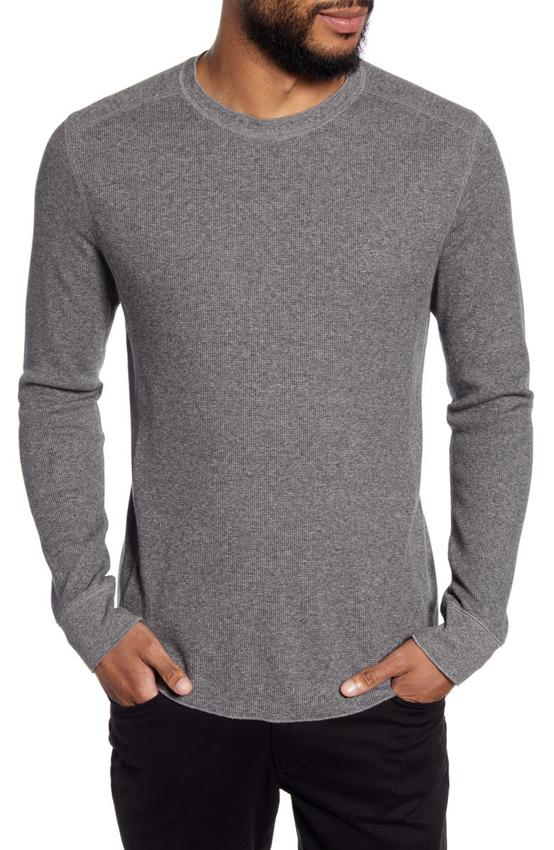 VINCE Slim Fit Waffle Knit T-Shirt, Main, color, H MED GREY