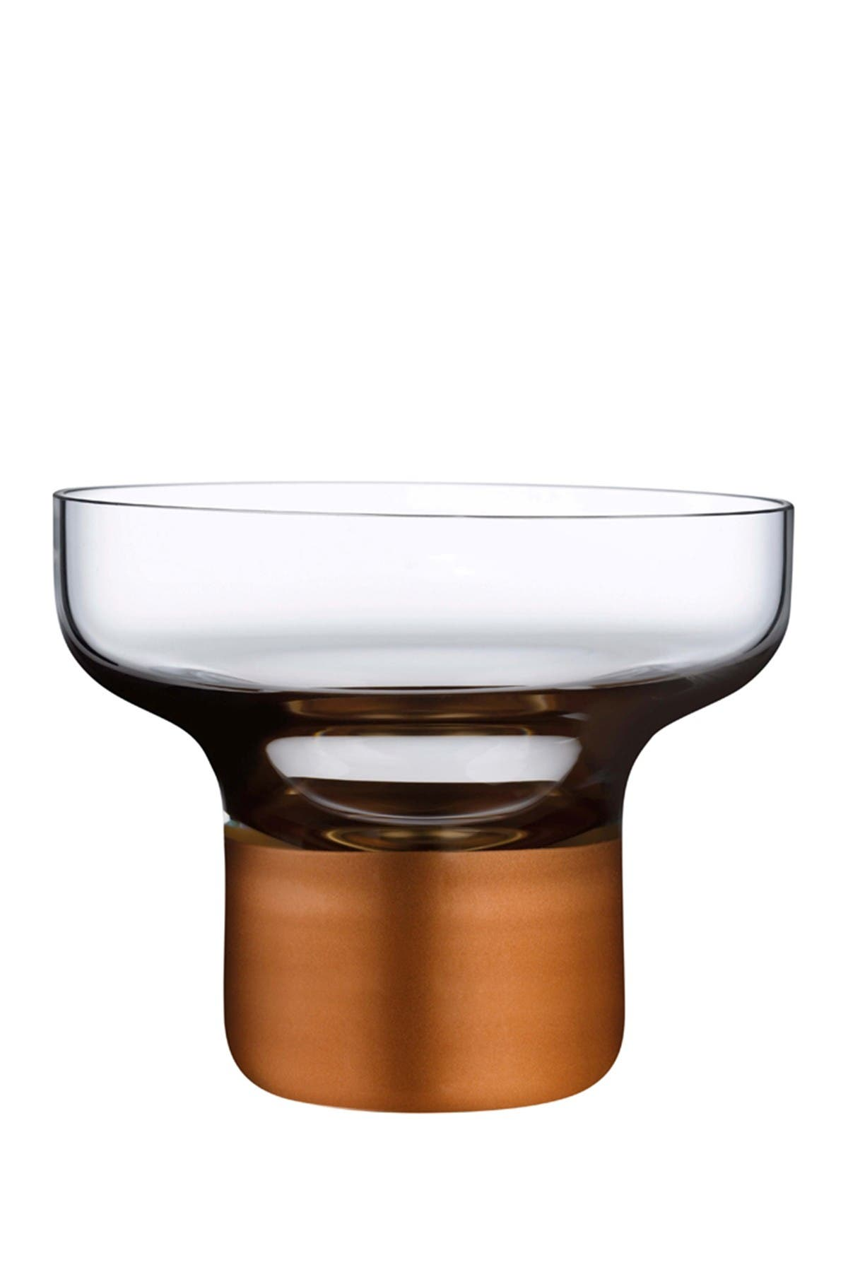 Image of Nude Glass Contour Bowl - High Foot with Clear Top and Copper Base