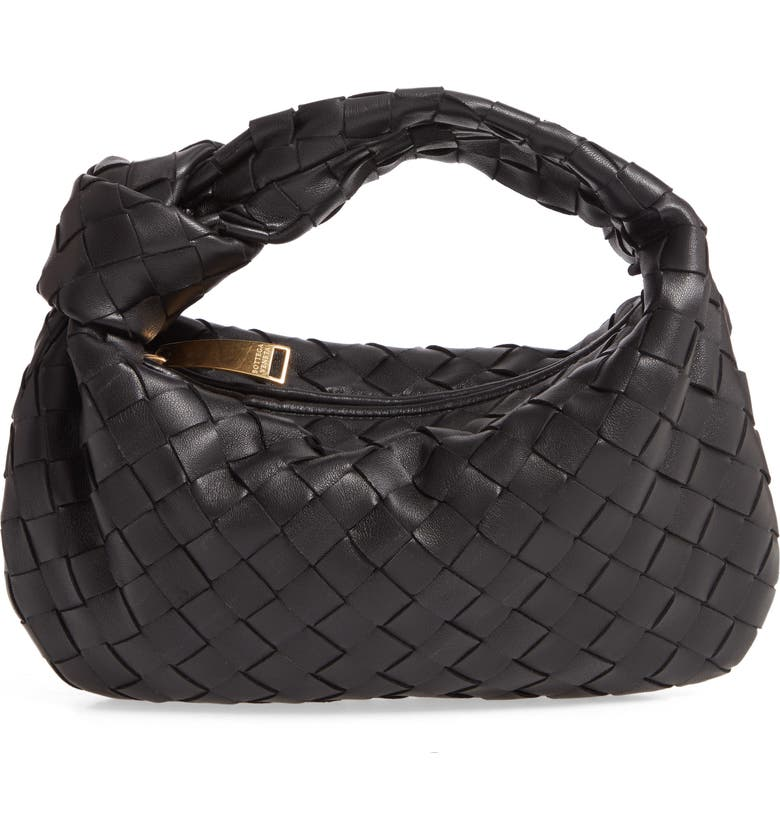 BOTTEGA VENETA Mini Intrecciato Leather Hobo Bag, Main, color, 001