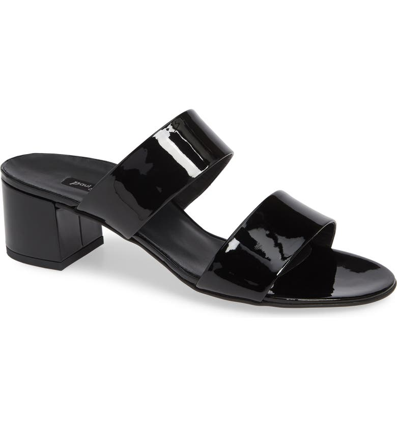 PAUL GREEN Meg Slide Sandal, Main, color, BLACK/ BLACK PATENT