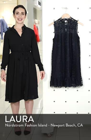 Sheri Mock Neck Sleeveless Lace Mini Shift Dress, sales video thumbnail