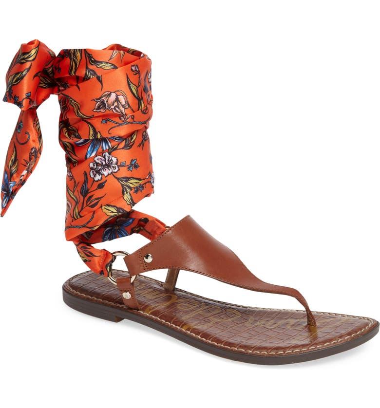 SAM EDELMAN Giliana Ankle Tie Thong Sandal, Main, color, 200