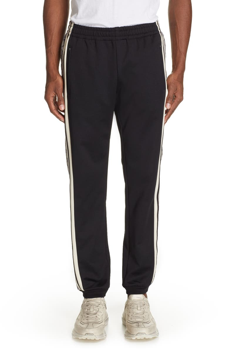 GUCCI Side Stripe Jogger Pants, Main, color, BLACK