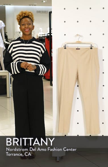 Ankle Vent Crop Cotton Blend Pants, sales video thumbnail