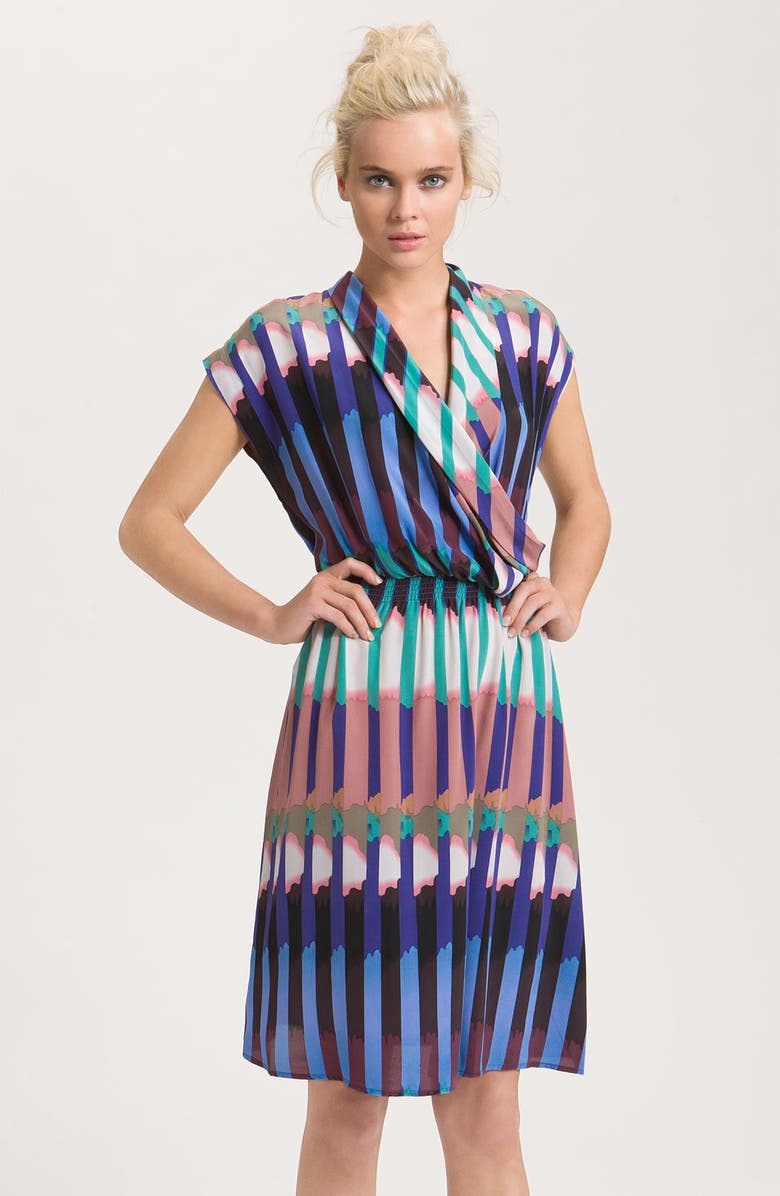 PRESLEY SKYE 'Devon' Silk Crêpe de Chine Wrap Dress, Main, color, 650