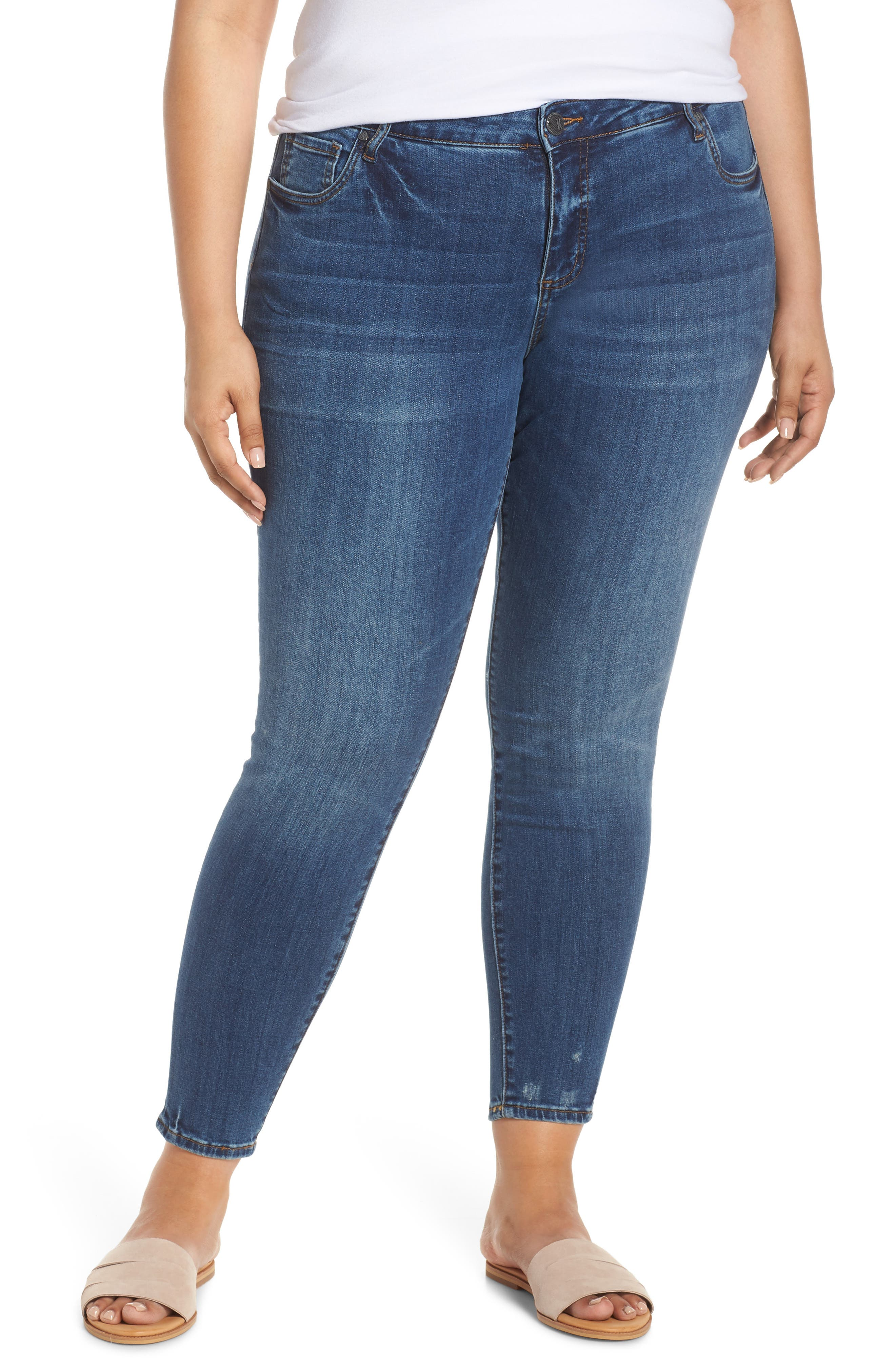 ,                             Donna Skinny Ankle Jeans,                             Main thumbnail 1, color,                             UNTOUCHABLE