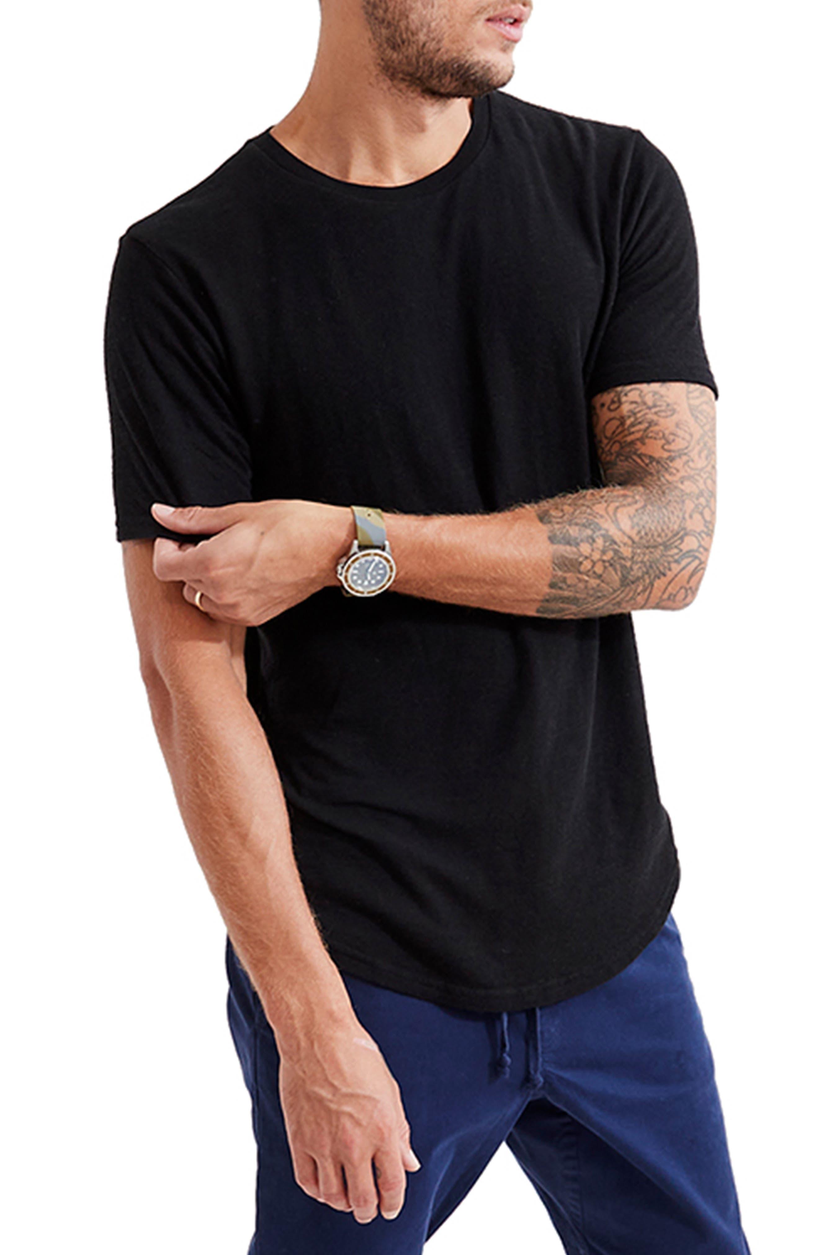 Double Layer Crewneck T-Shirt