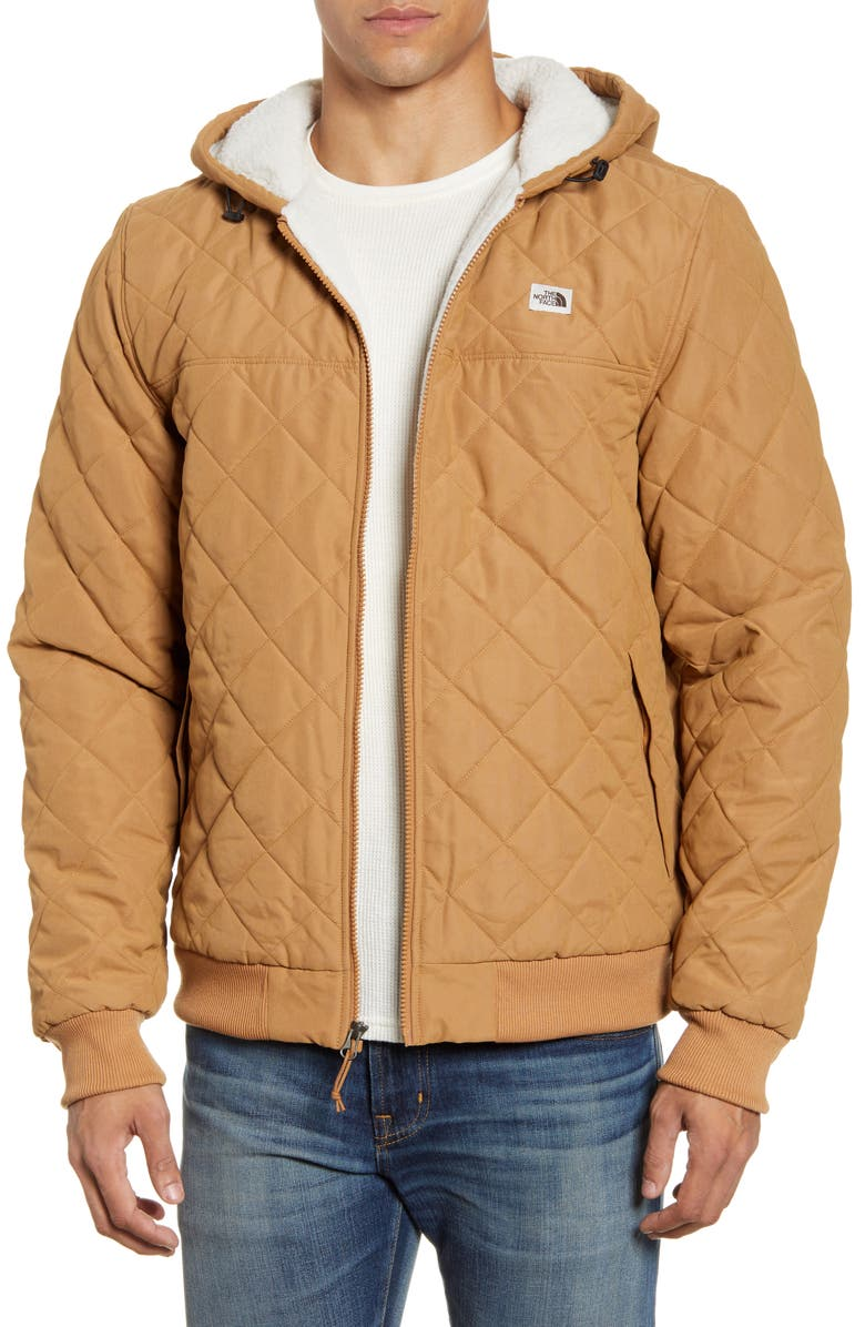 THE NORTH FACE Cuchillo Insulated Hooded Jacket, Main, color, CEDAR BROWN