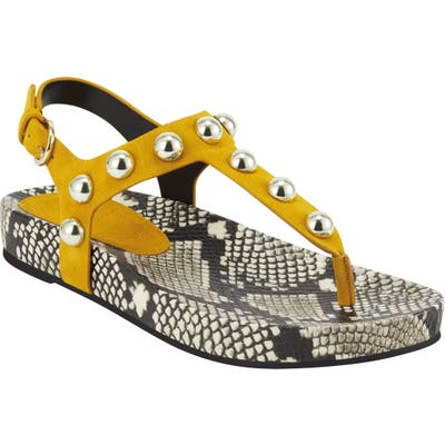 Marc Fisher Ltd Indie Studded Sandal- Yellow