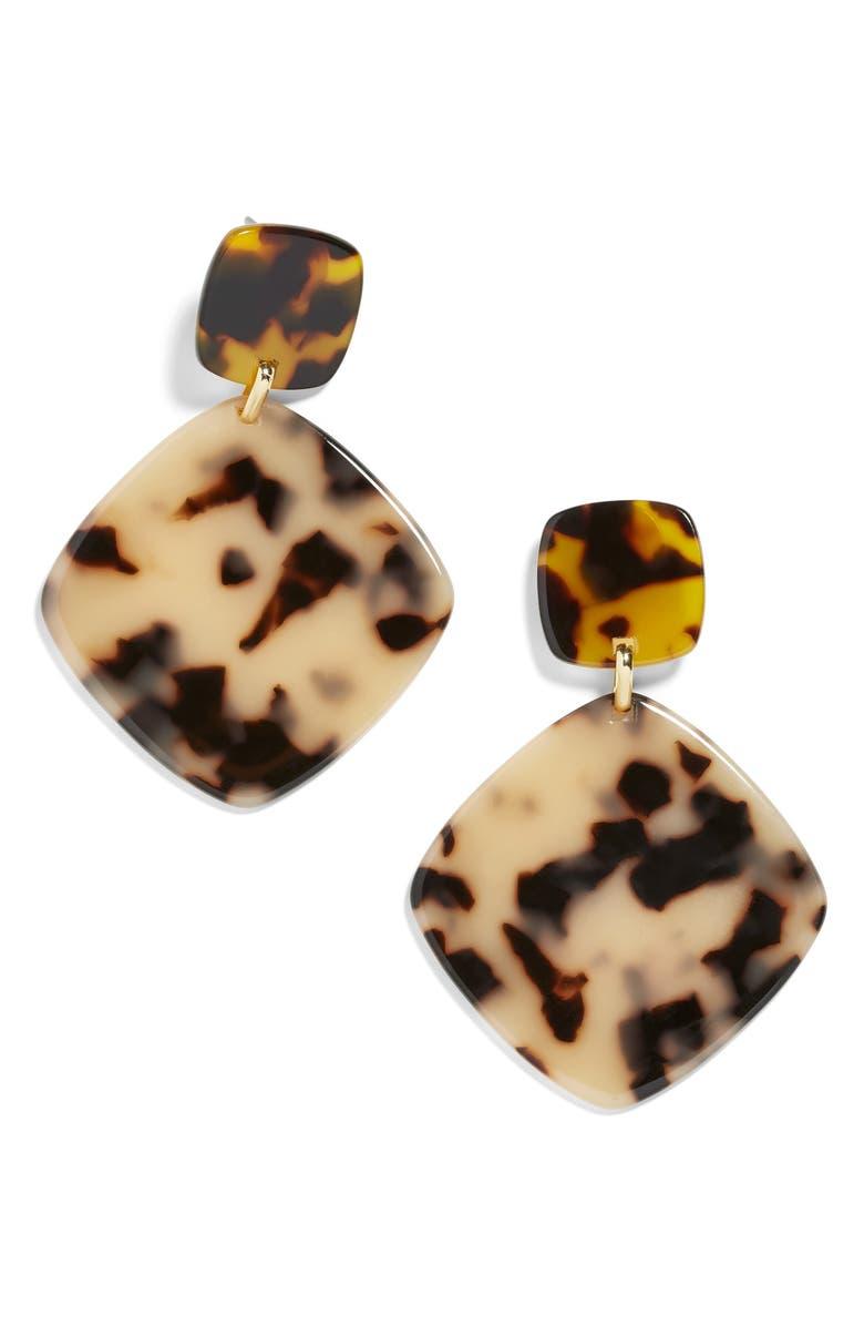 BAUBLEBAR Avida Drop Earrings, Main, color, TORTOISE
