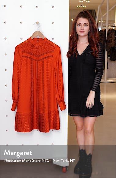 Lace Inset Long Sleeve Dress, sales video thumbnail
