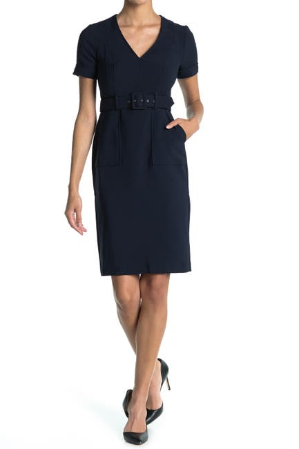 Image of Maggy London Utility Waist Belt Sheath Dress