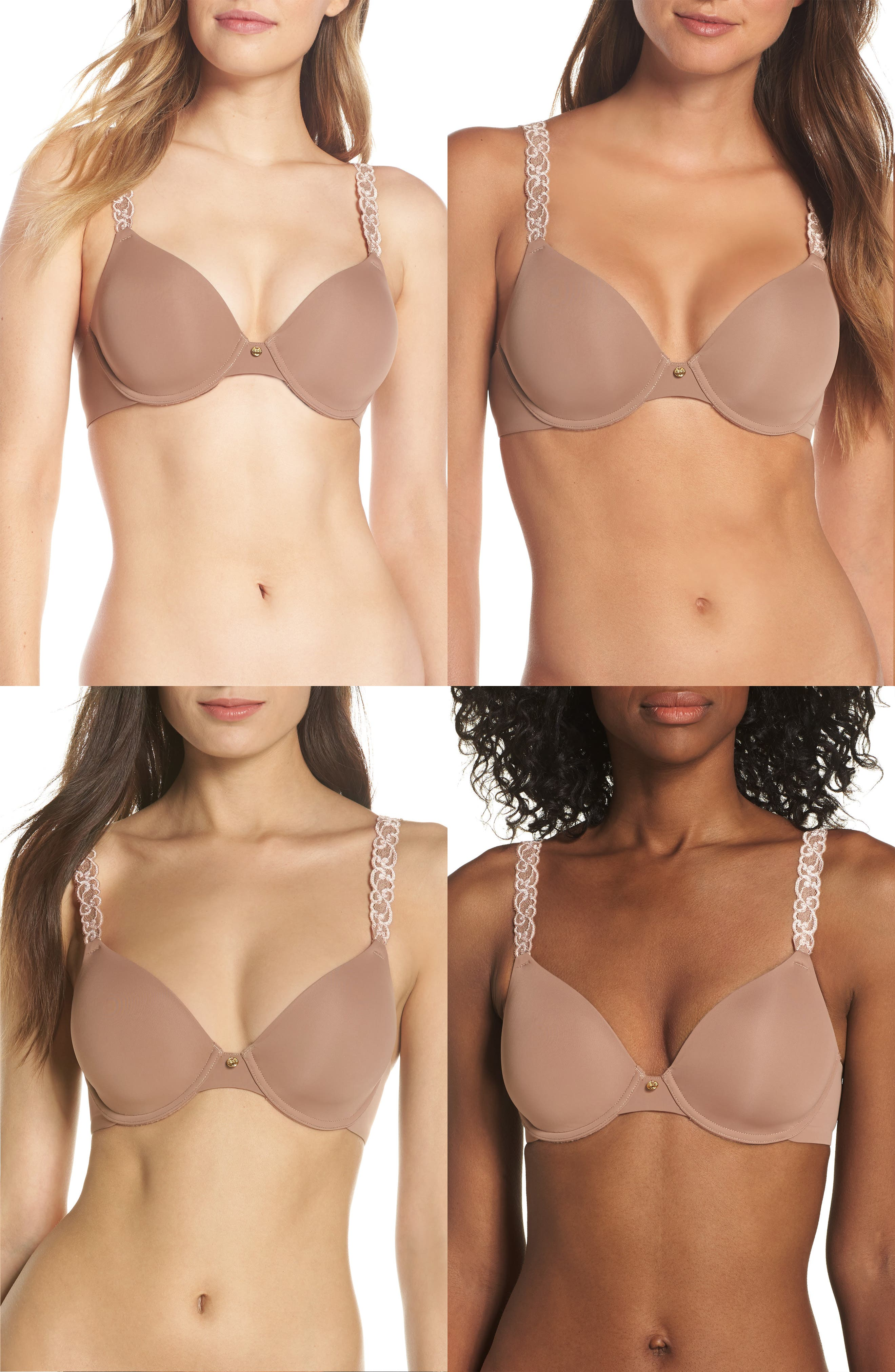 ,                             Pure Luxe Underwire T-Shirt Bra,                             Alternate thumbnail 38, color,                             256