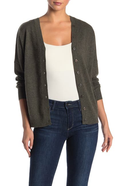 Image of Knyt & Lynk Cashmere V-Neck Button Down Cardigan