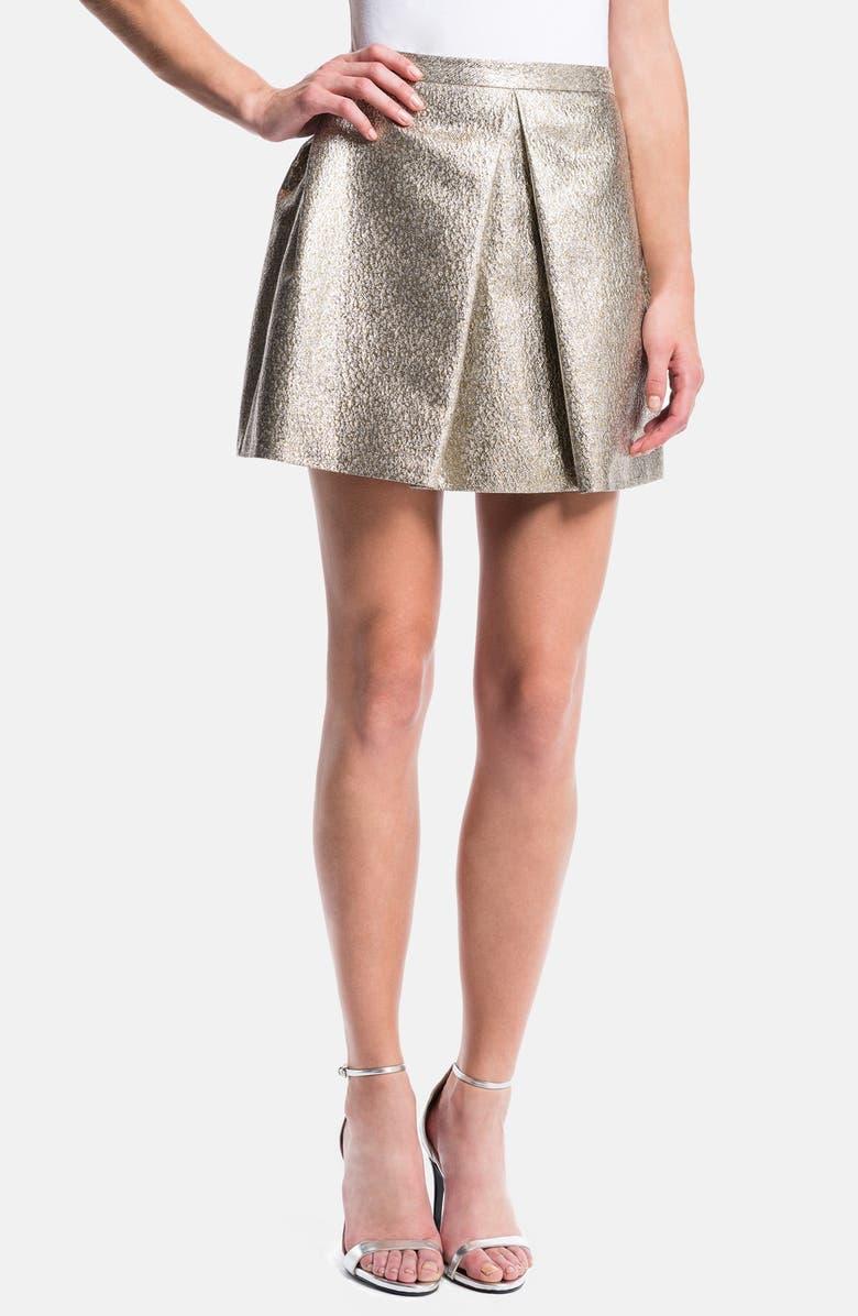 1.STATE Pleated Metallic Miniskirt, Main, color, 935