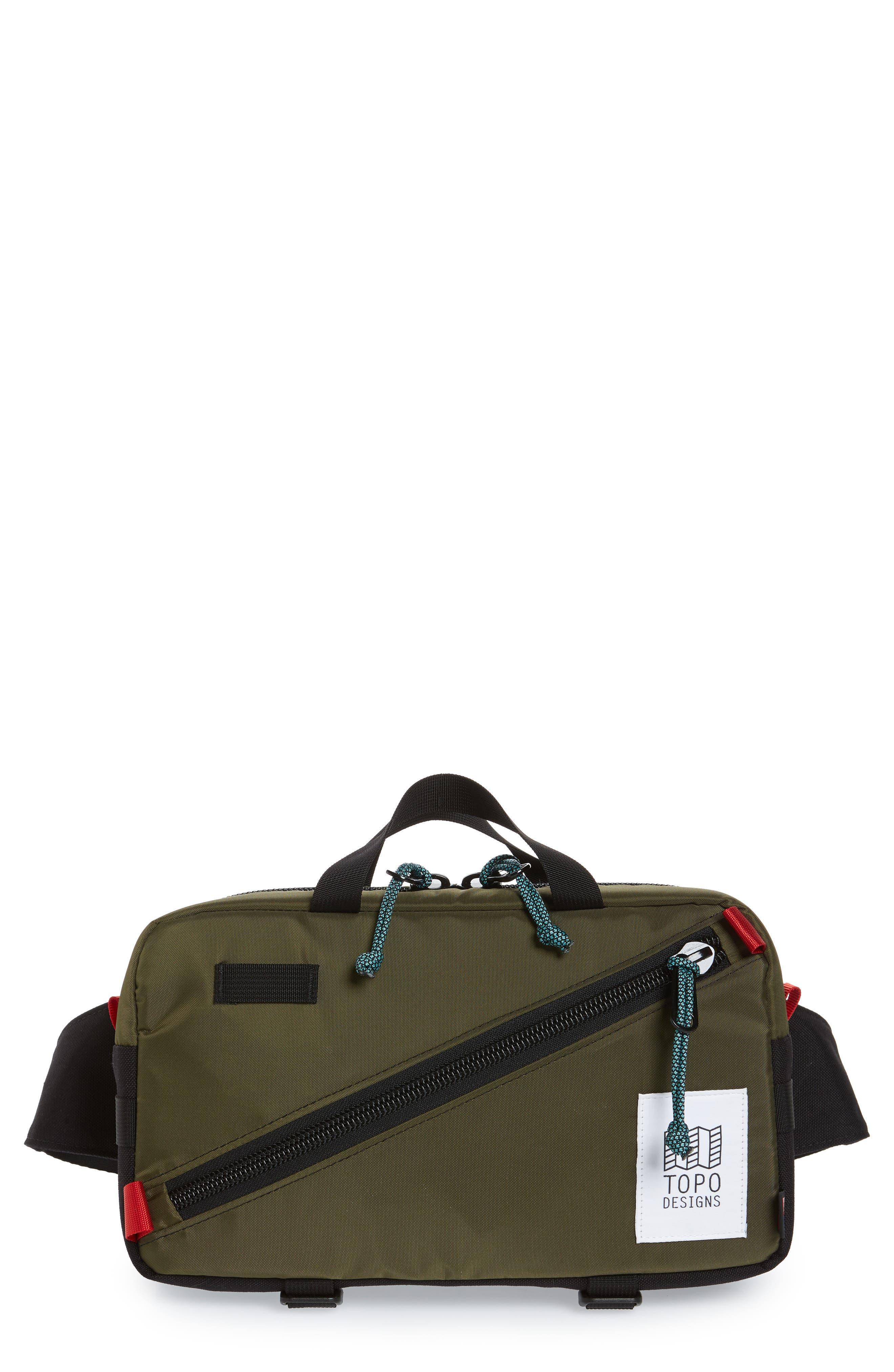 Quick Pack Belt Bag, Main, color, OLIVE/ BLACK