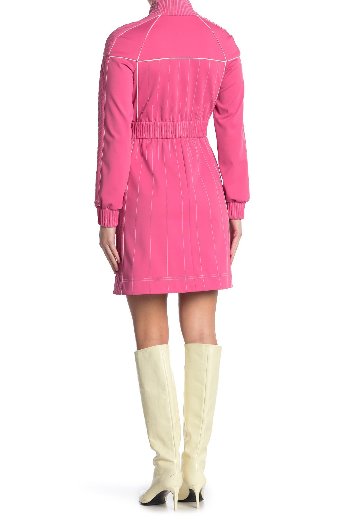 Image of Valentino Long Sleeve Zip Track Dress
