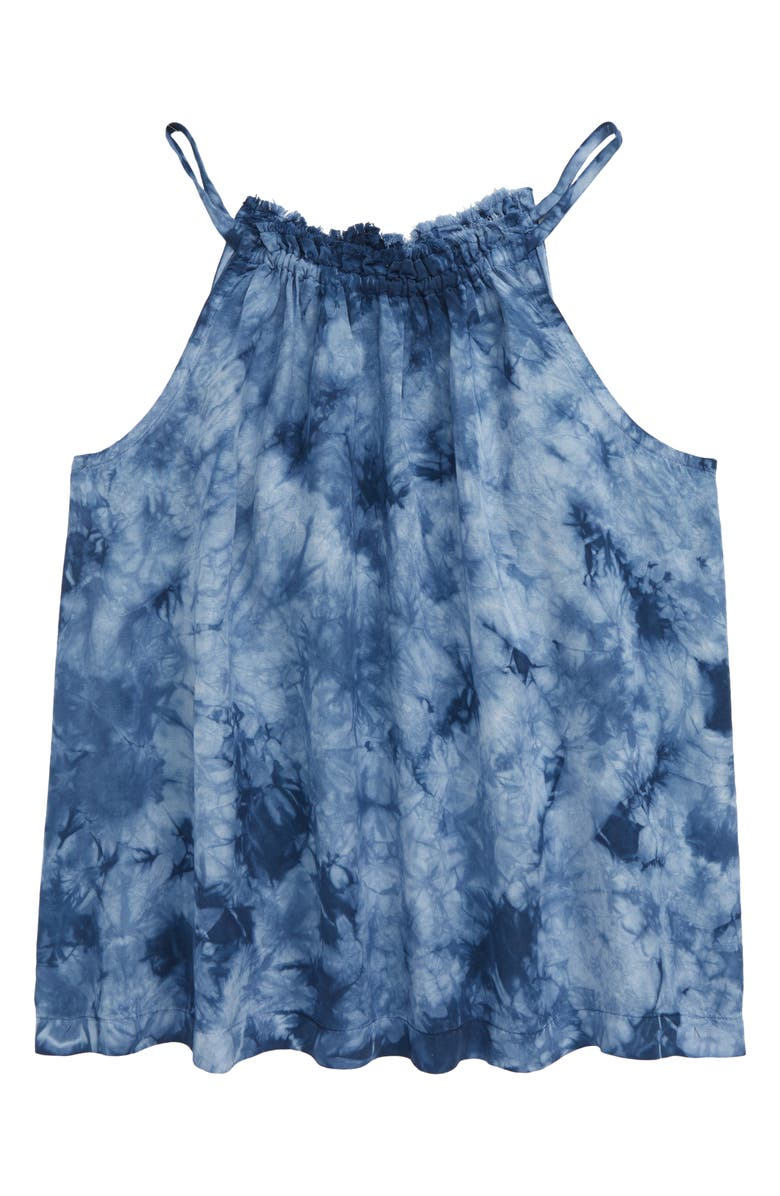 BELLA DAHL Fray Tie Dye Swing Tank, Main, color, INDIGO