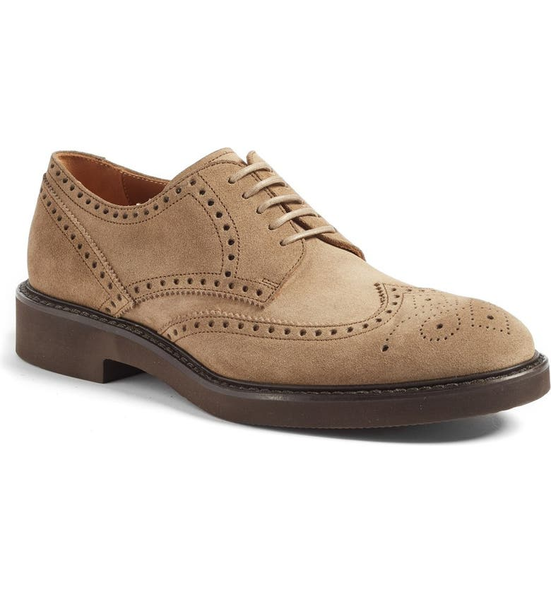 AQUATALIA 'Trevor' Wingtip, Main, color, TAUPE SUEDE
