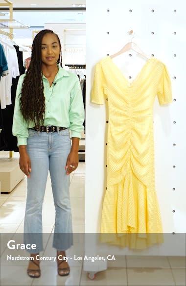 Panier Gingham Mermaid Midi Dress, sales video thumbnail