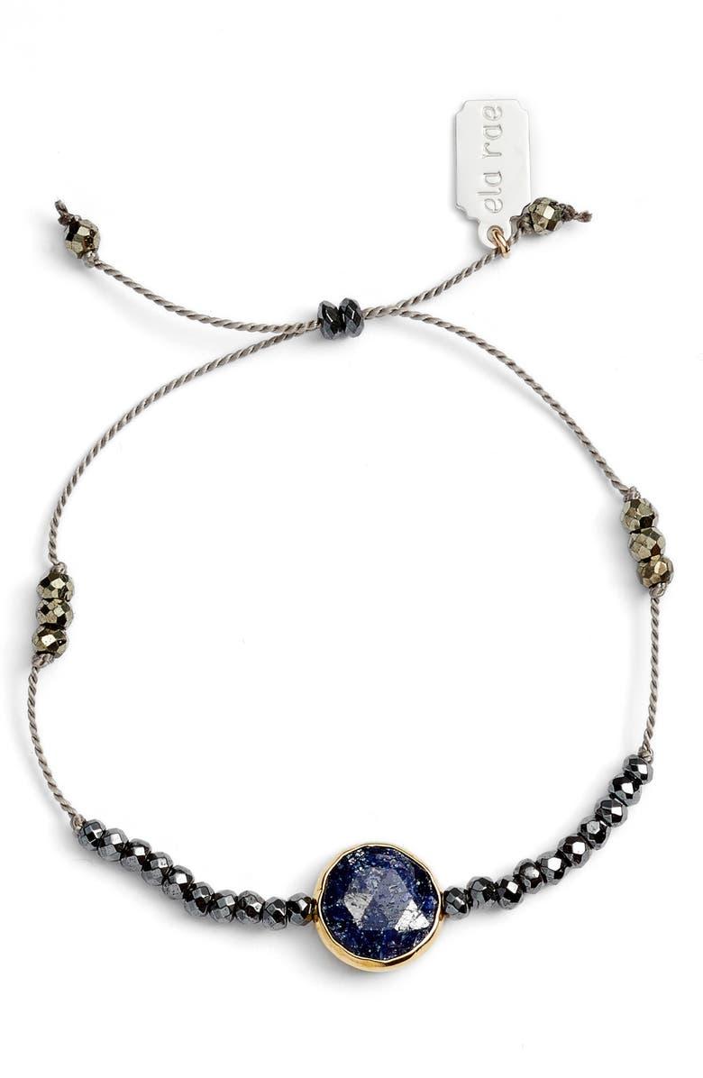 ELA RAE Sylvie Semiprecious Stone Bracelet, Main, color, GREY/ BLUE