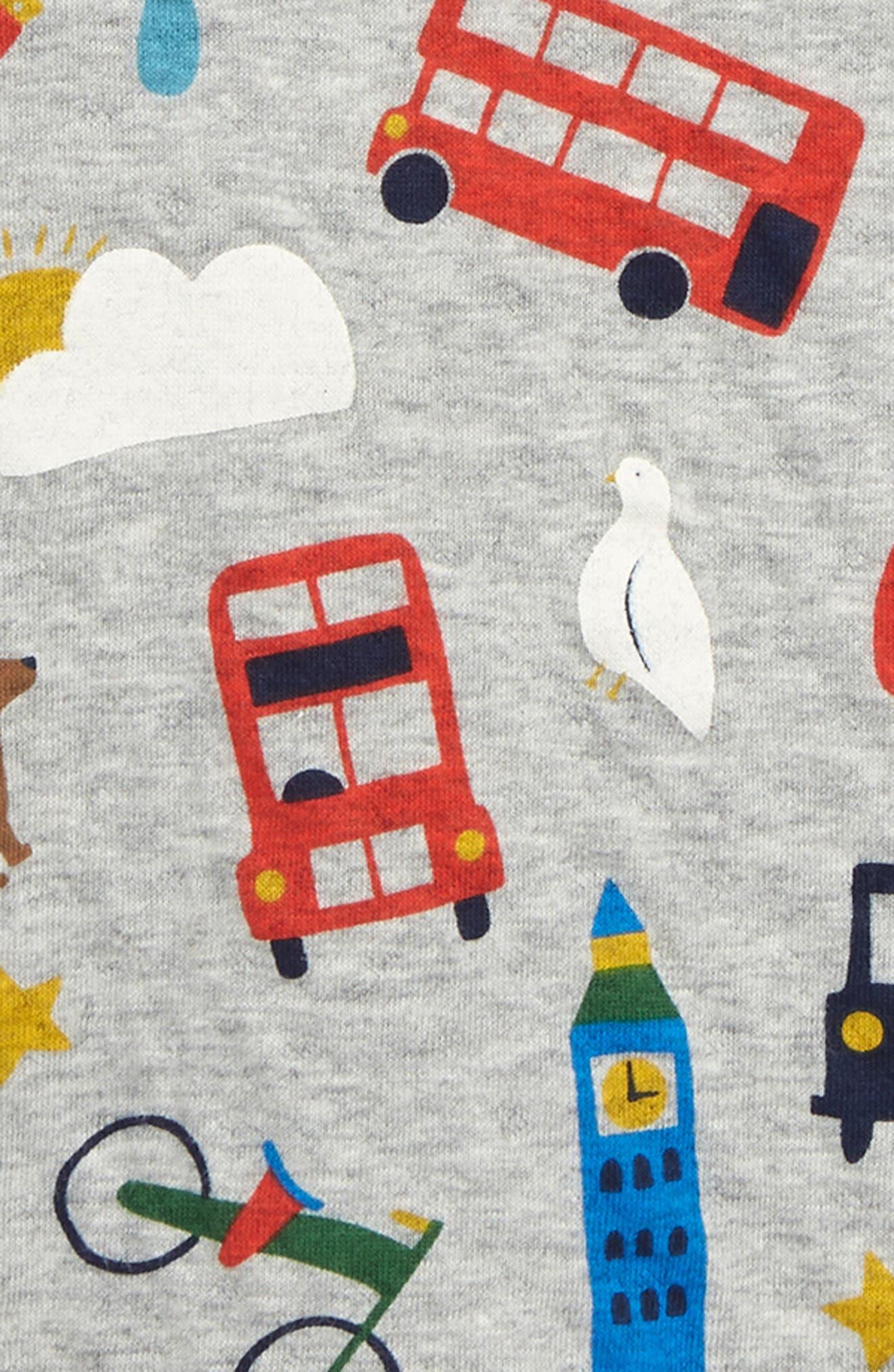 ,                             Run Print Reversible T-Shirt,                             Alternate thumbnail 3, color,                             GRY GREY MARL LONDON BUSTLE