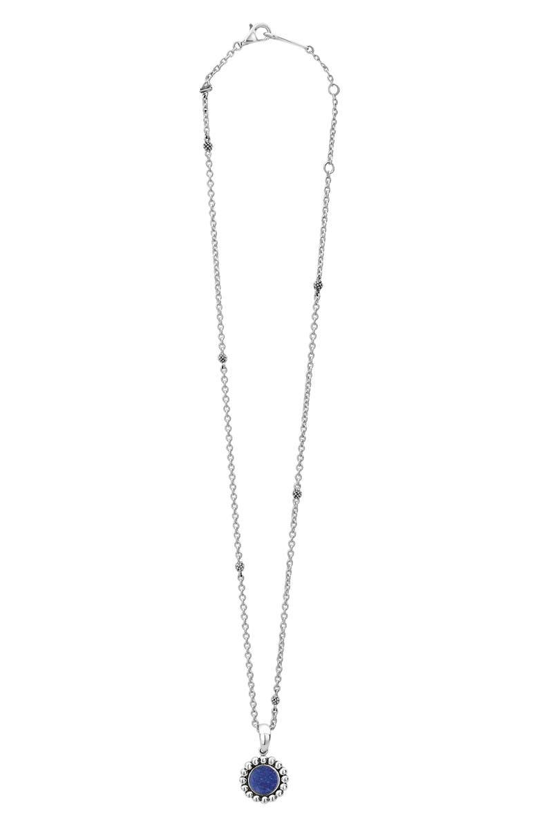 LAGOS Maya Small Circle Pendant Necklace