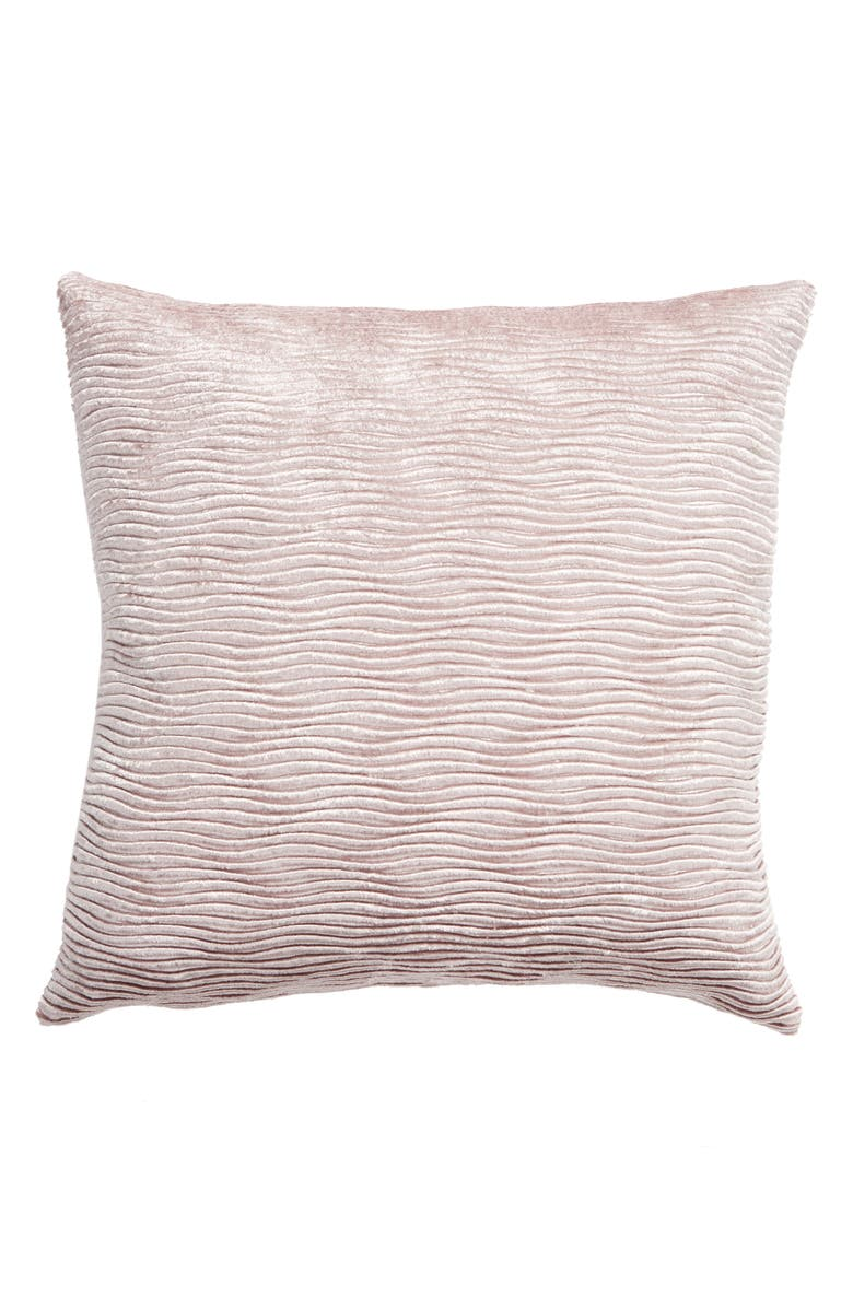 LEVTEX Farmhouse Floral Ribbed Accent Pillow, Main, color, LAVENDER