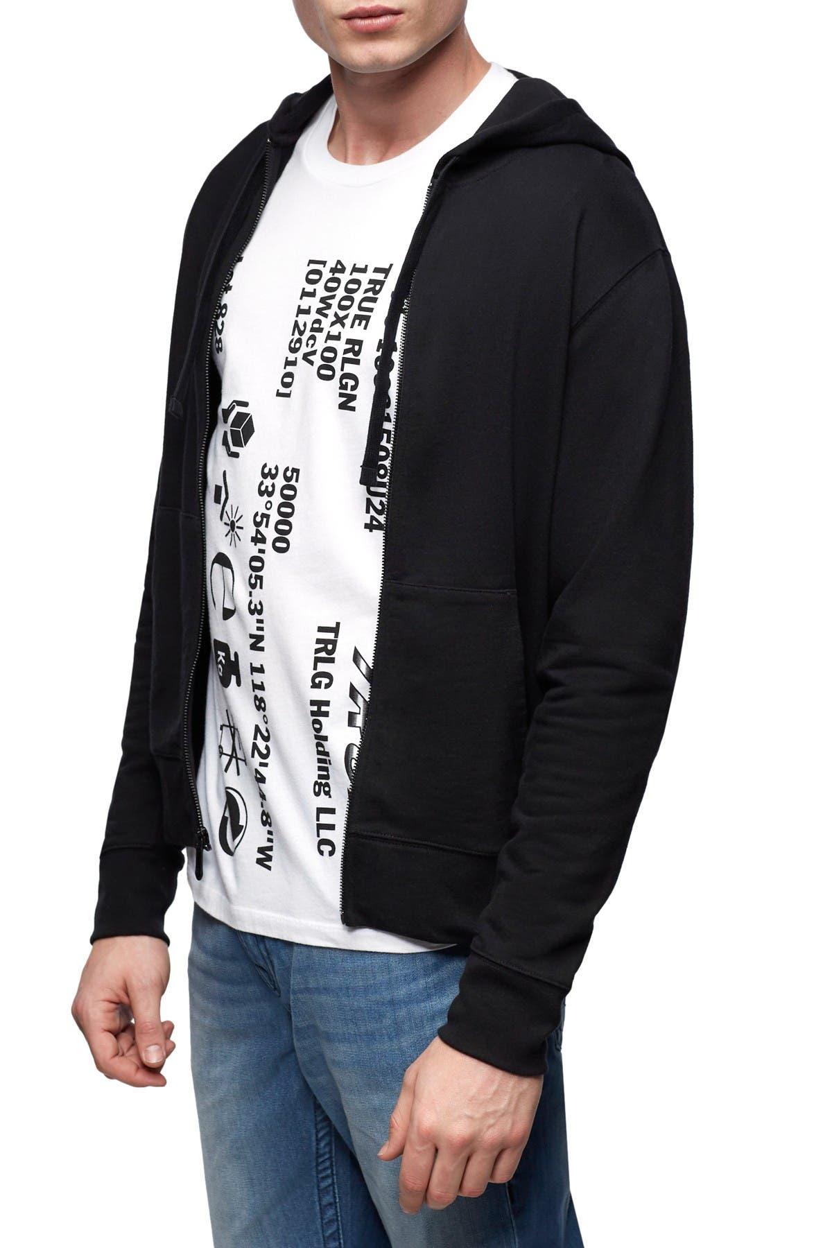 Image of True Religion Drawstring Hood Zip Jacket