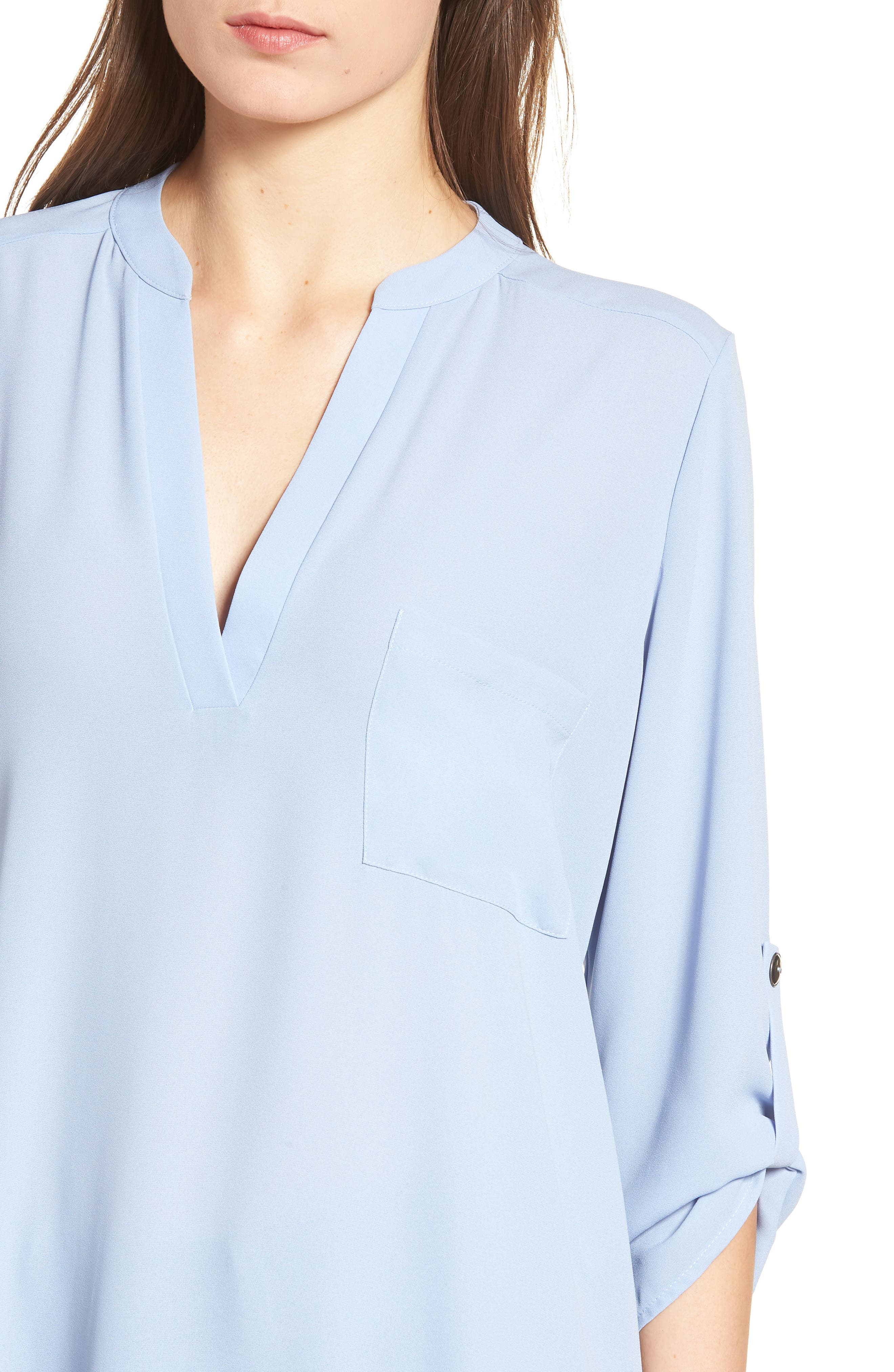 ,                             Perfect Roll Tab Sleeve Tunic,                             Alternate thumbnail 78, color,                             410