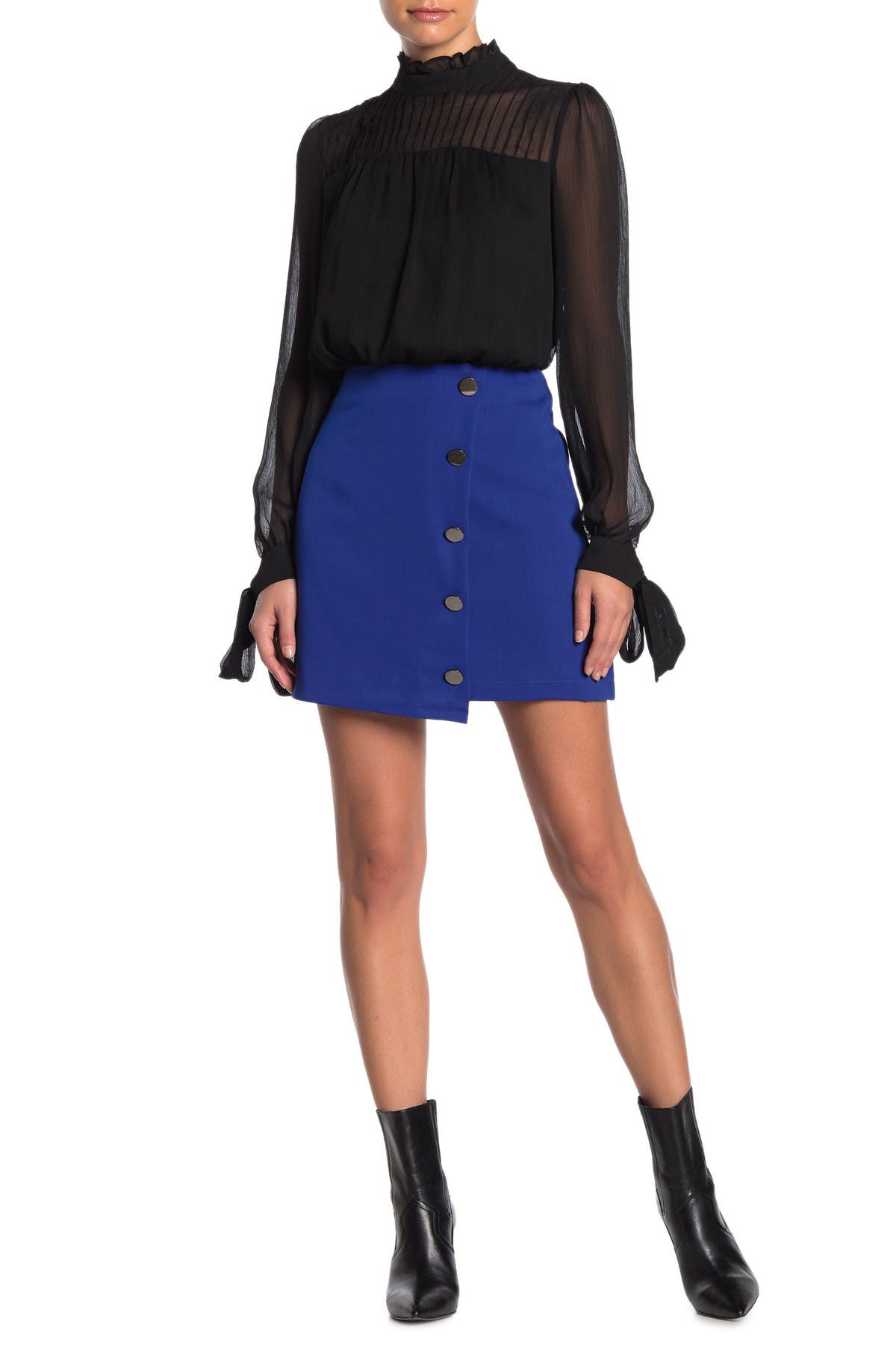 Image of Do + Be Button Detailed Mini Skirt