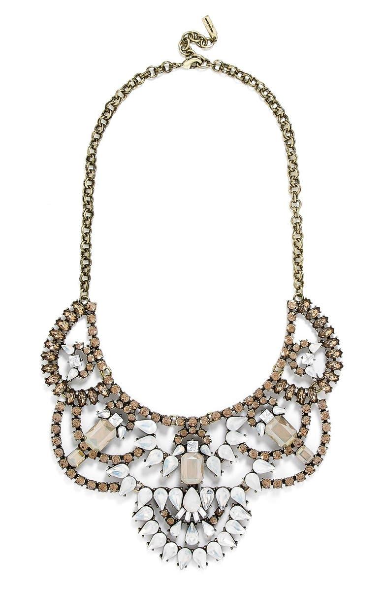 BAUBLEBAR 'Dalloway' Crystal Bib Necklace, Main, color, 710