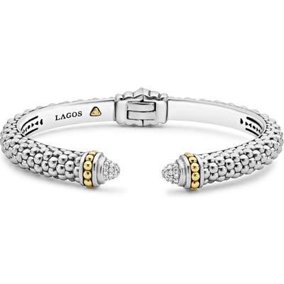 Lagos Diamond Hinge Cuff