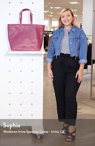 'Schlepp' Faux Leather Tote, sales video thumbnail