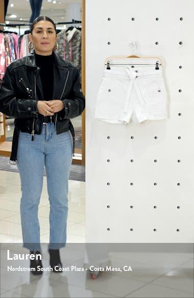 Le Brigette Triple Tie Waist Denim Shorts, sales video thumbnail
