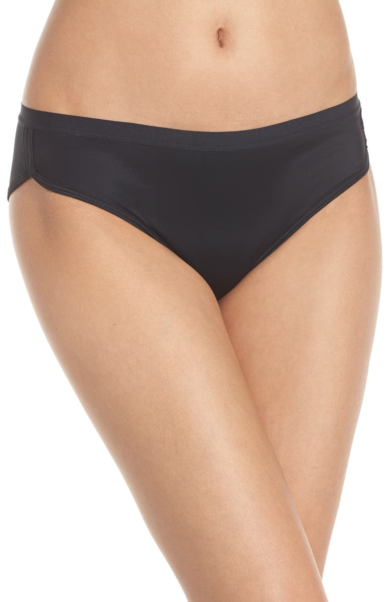 THINX Period Proof Sport Panties, Main, color, BLACK