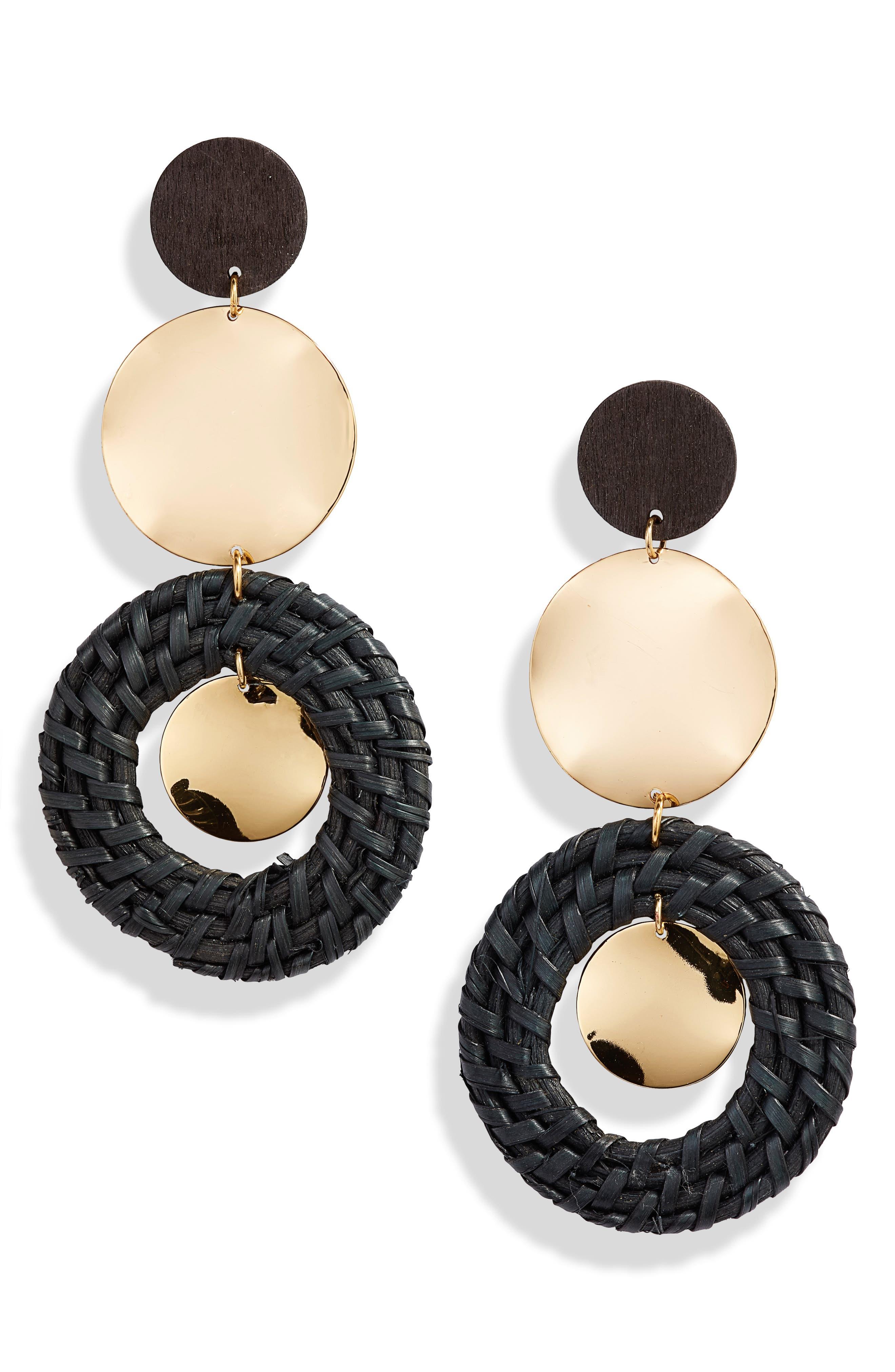 Raffia Ring Earrings