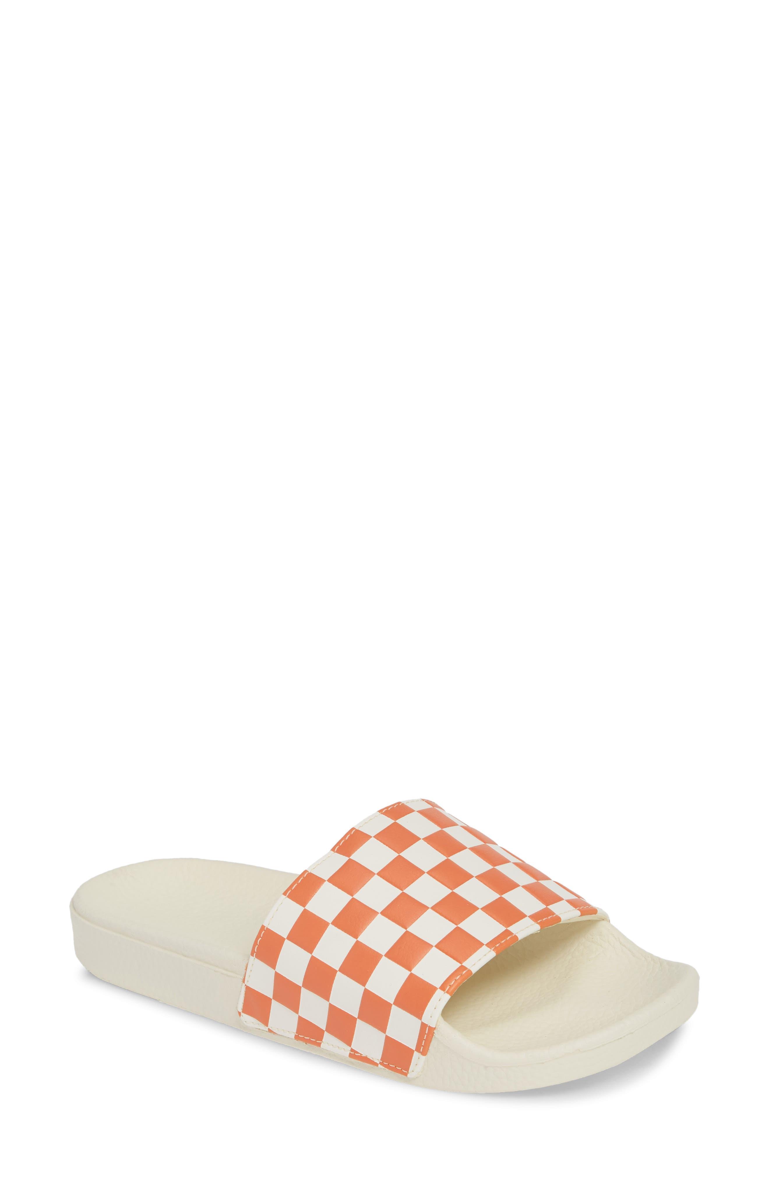 Vans Checkerboard Sport Slide, Red