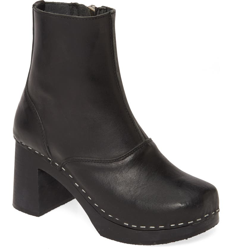 SWEDISH HASBEENS '60s Boot, Main, color, BLACK LEATHER