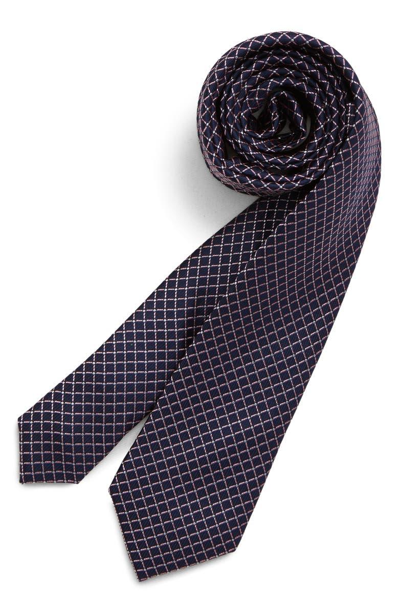 NORDSTROM Mark Neat Geo Silk Tie, Main, color, PINK