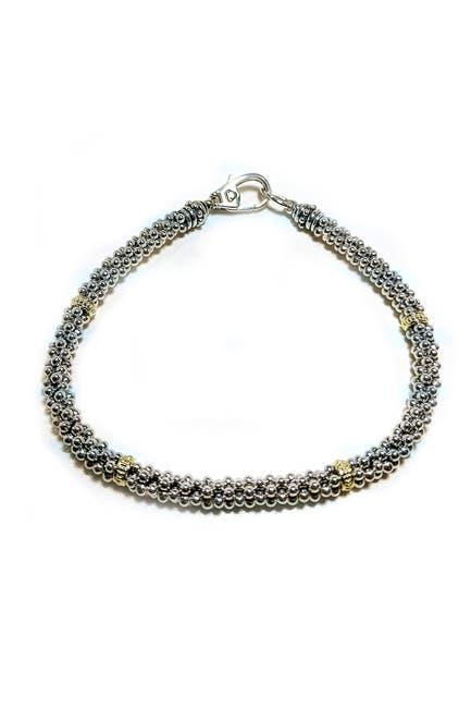 Image of LAGOS Sterling Silver & 18K Gold Caviar Rope Bracelet