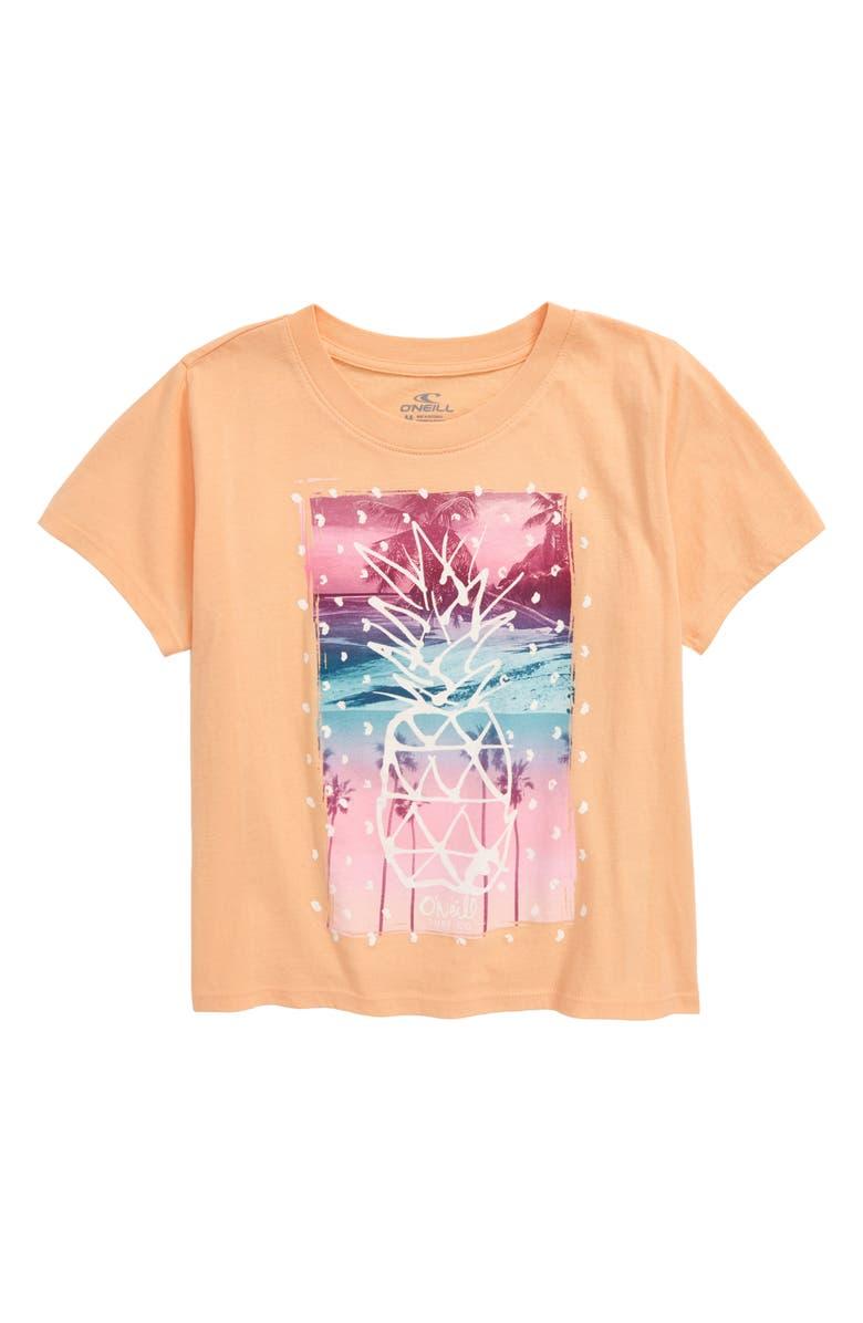 O'NEILL Pineapple Paradise Graphic Tee, Main, color, PEACH